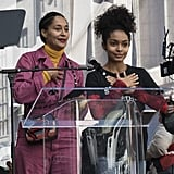 Pictured: Tracee Ellis Ross and Yara Shahidi