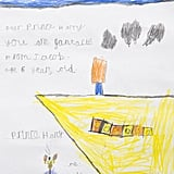 A 6-year-old boy gave Prince Harry a sweet drawing when he visited the naval base.