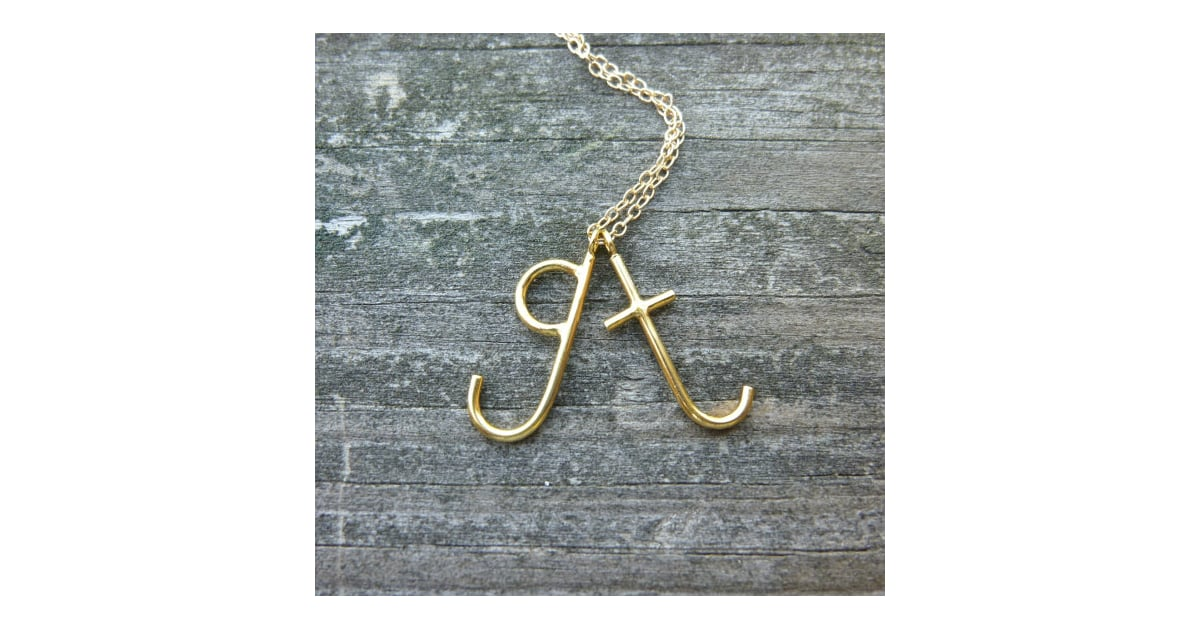 Lowercase letter necklace personalized mom jewelry for Lowercase letter necklace