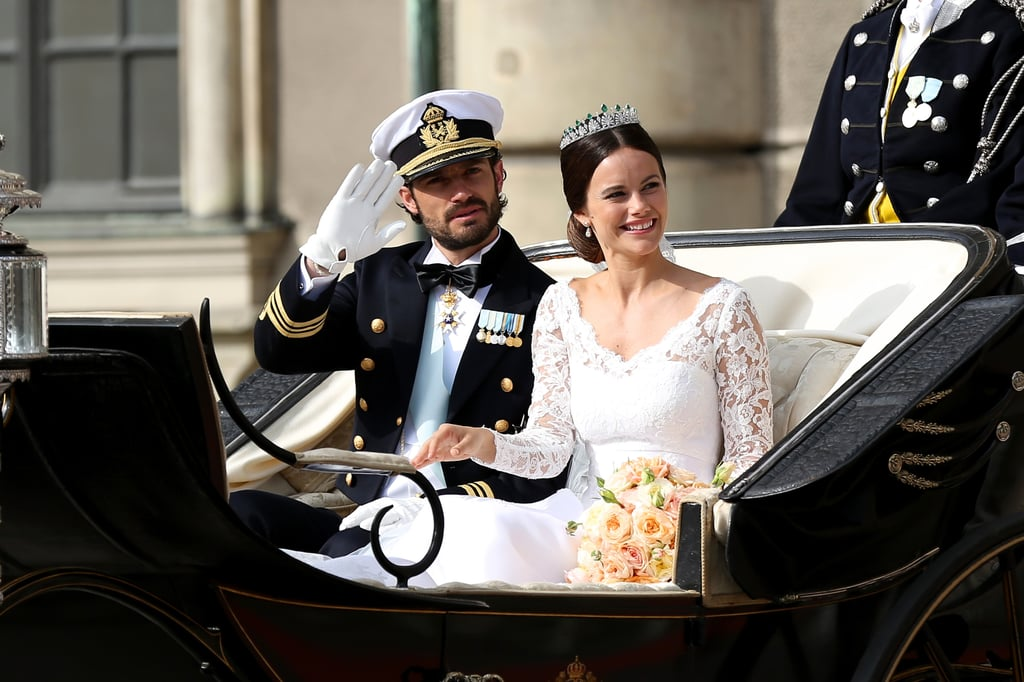 Prince Carl Philip and Sofia tied the knot in June 2015 and even had similar carriage rides.