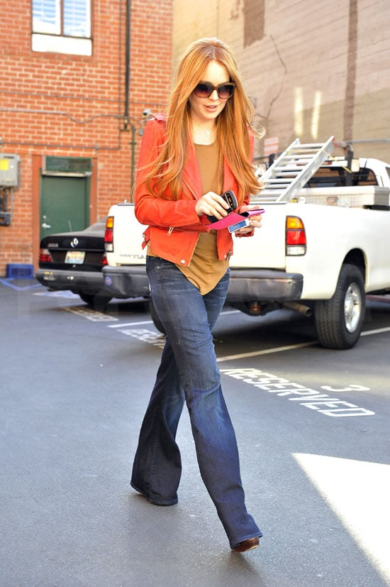 Lindsay Lohan dyed her hair red.
