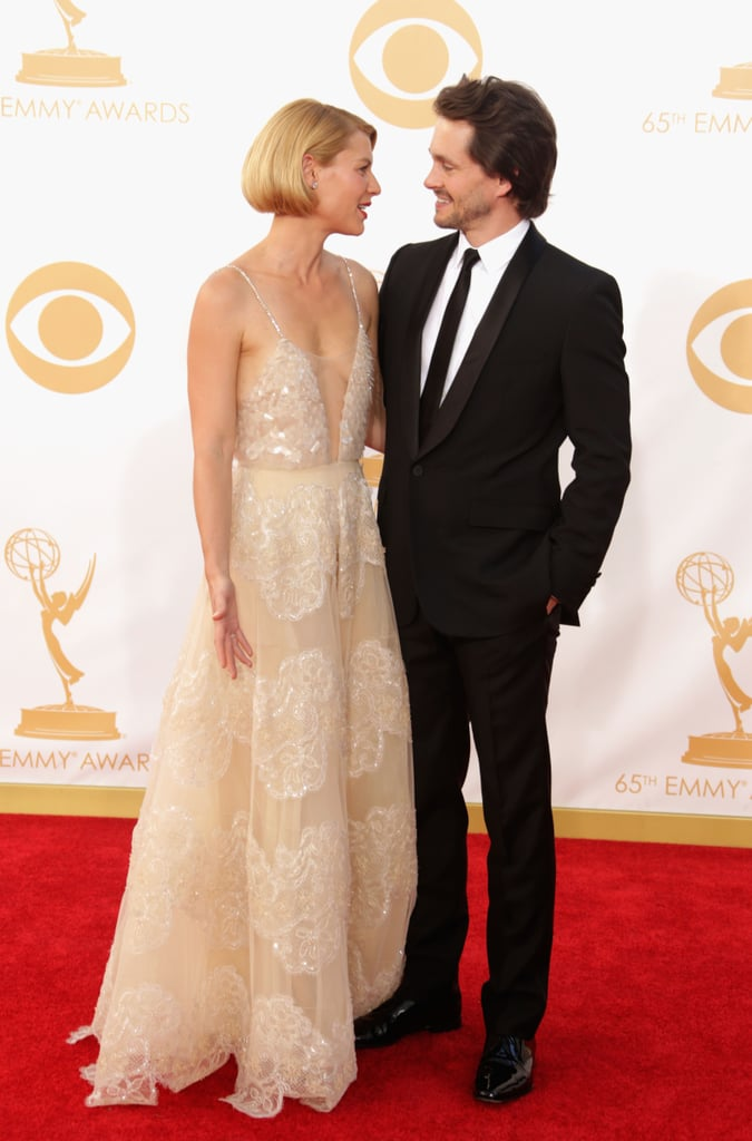 Claire Danes and Hugh Dancy only had eyes for each other on the carpet.