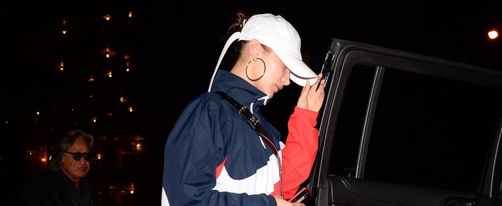 Bella Hadid's Windbreaker Will Remind You of the One Your Dad Wore Back in the '90s