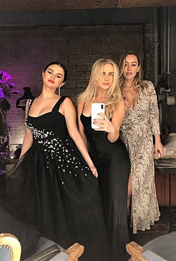 Selena Gomez Wears Black Dress to Wedding February 2019