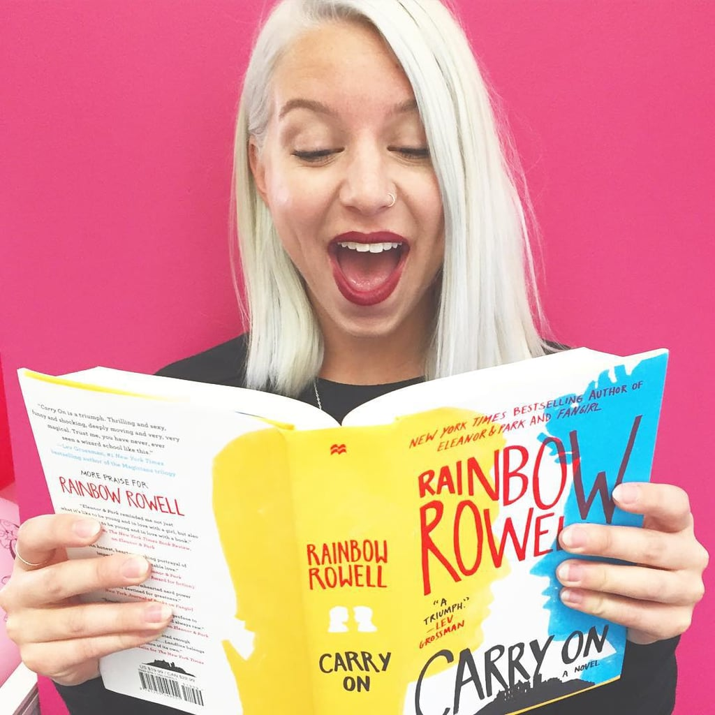 """""""We were just a wee bit excited to read Carry On by Rainbow Rowell."""""""