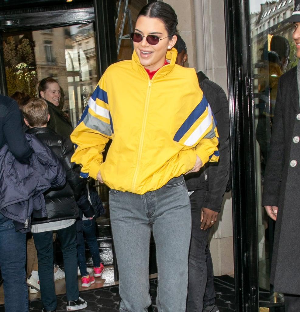 Kendall Jenner Yellow Balenciaga Jacket