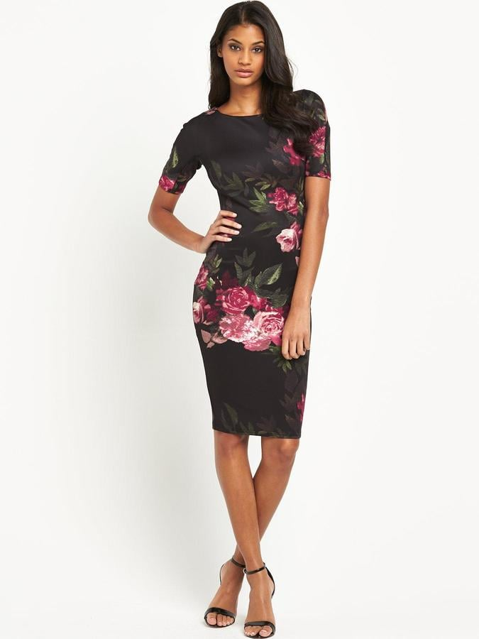 men/man top brands top design AX Paris 3/4 Sleeve Statement Flower Midi Dress | Beautiful ...