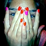 Bar Refaeli showed off a colorful manicure in July.  Source: Instagram user barrefaeli