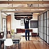 When there's no designated bedroom and floorspace is at a premium, stash your bed overhead like Mad Men actor Vincent Kartheiser. Photo courtesy of Joe Pugliese for Dwell
