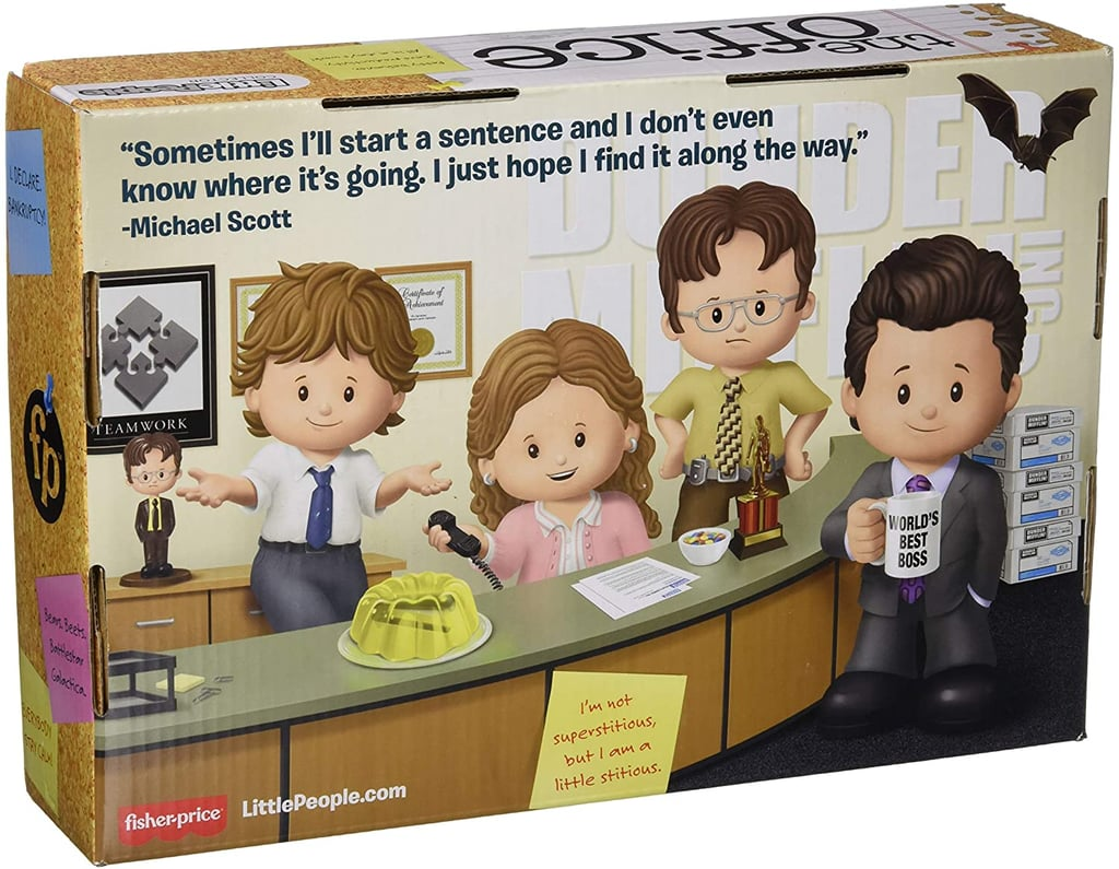 The Back of the Fisher-Price Little People Collector The Office Box
