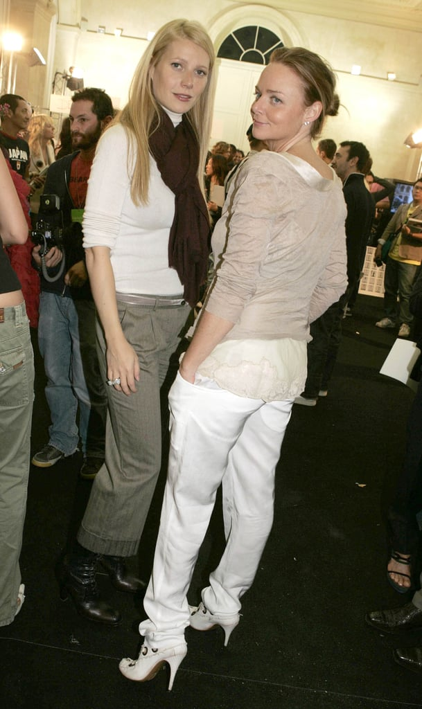 Gwyneth and Stella took on Paris Fashion Week together in October 2004. Gwyneth wore cropped trousers while Stella rocked white pants with style.