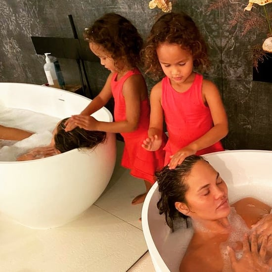 Luna Stephens Washes Chrissy Teigen's Hair in the Bath