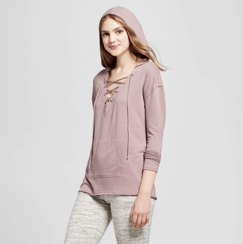 Mossimo Front Lace Up Hoodie Target Fall Clothes Popsugar 23