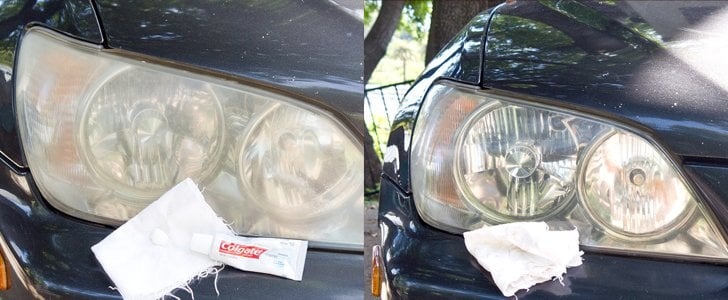Use toothpaste to shine your headlights.