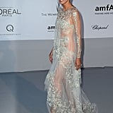 Heidi stepped out in a very sheer, ultra embellished gown that left little to the imagination.