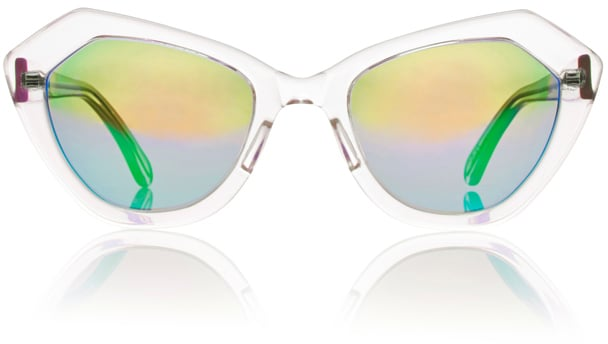 Prism Bilbao Clear Sunglasses with Mirrored Lenses ($410)