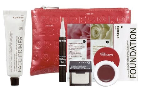 Tuesday Giveaway! Korres Face Primer and Wild Rose Triple Benefits Color Collection