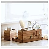 Modular Vanity Organizer With Magnetic Strip in Wood