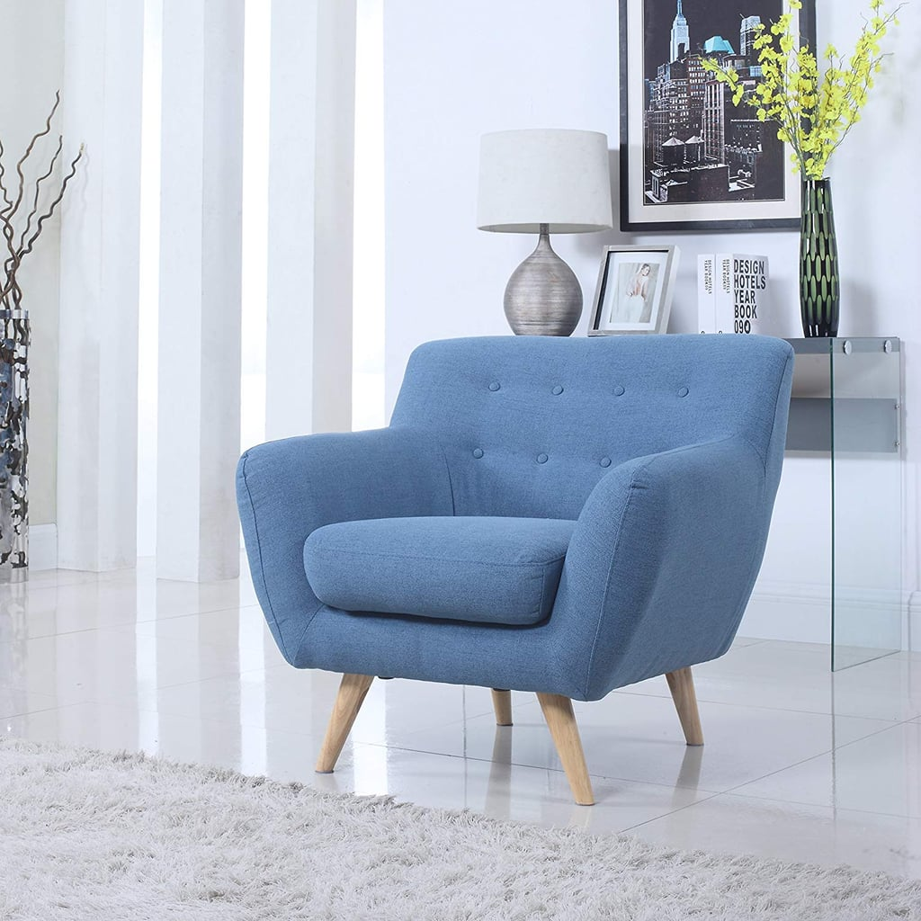 Modern Furniture 2014 Comfort Modern Living Room: Mid Century Modern Tufted Button Living Room Accent Chair