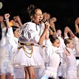Watch Jennifer Lopez's Daughter Emme Sing at the Super Bowl