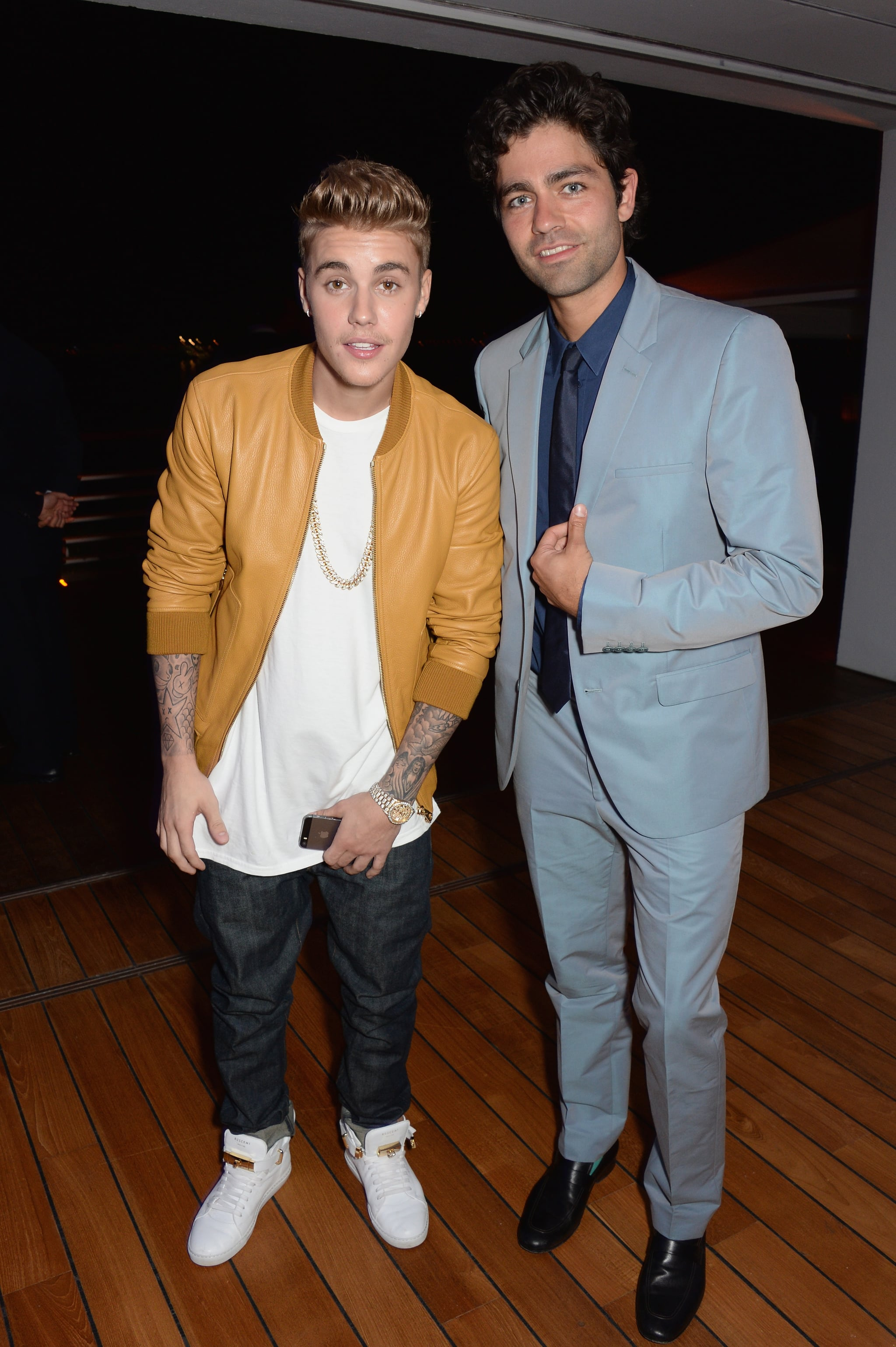 Justin Bieber and Adrian Grenier met up at the bash.