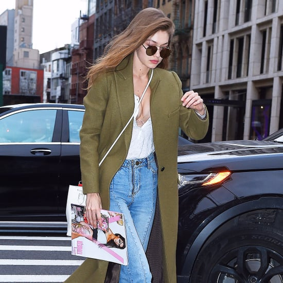 Gigi Hadid Olive Green Zimmermann Coat Shop