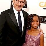 Steven Spielberg and Quvenzhané Wallis