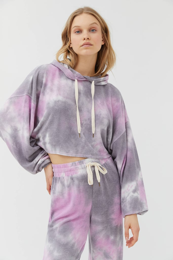 Out From Under Jenny Tie-Dye Cropped Hoodie Sweatshirt