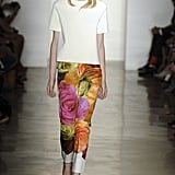 Peter Som's divine floral print trousers and modern structured top tended to the modern downtown gal — we loved it.