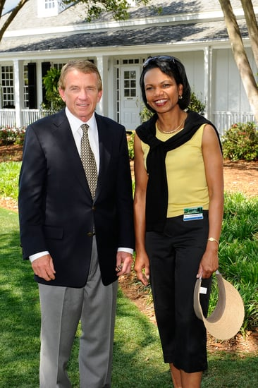 Condoleezza Rice Spends Her Time on Tiger Wood's Trail