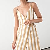 & Other Stories Striped Wrap Dress