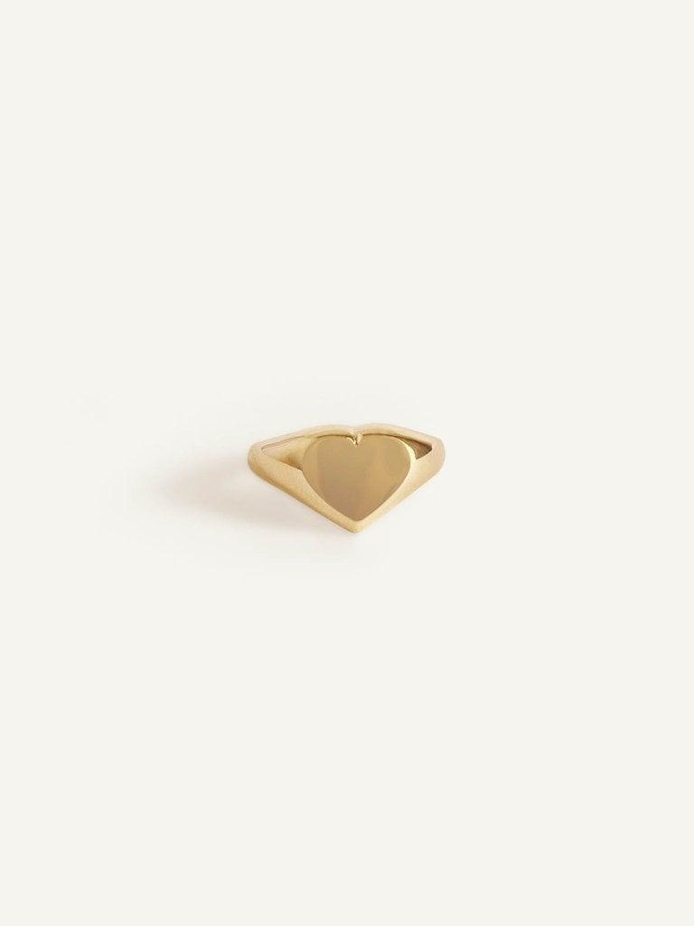 Classic Heart Signet Ring