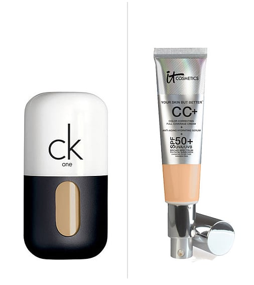 Swap your oil-free CC cream for a heftier, fuller-coverage one for Fall.  Then: CK One Color 3-in-1 Oil-Free Face Makeup ($30) Now: It Cosmetics Anti-Aging CC Cream ($35)
