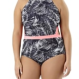 Time and Tru Women's Paradise Palm Monokini One-Piece Swimsuit