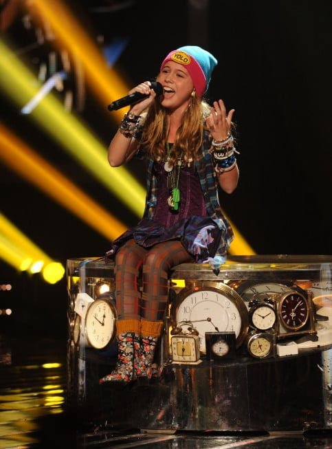 "Beatrice Miller sang ""Time After Time."""