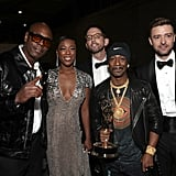 Pictured: Dave Chappelle, Samira Wiley, Neal Brennan, Katt Williams, and Justin Timberlake
