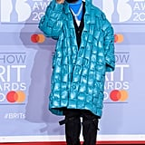 Burna Boy at the 2020 BRIT Awards in London