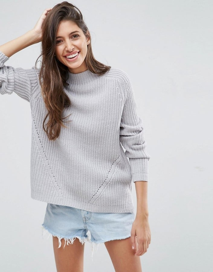 ASOS Ultimate Chunky Sweater With Slouchy High Neck