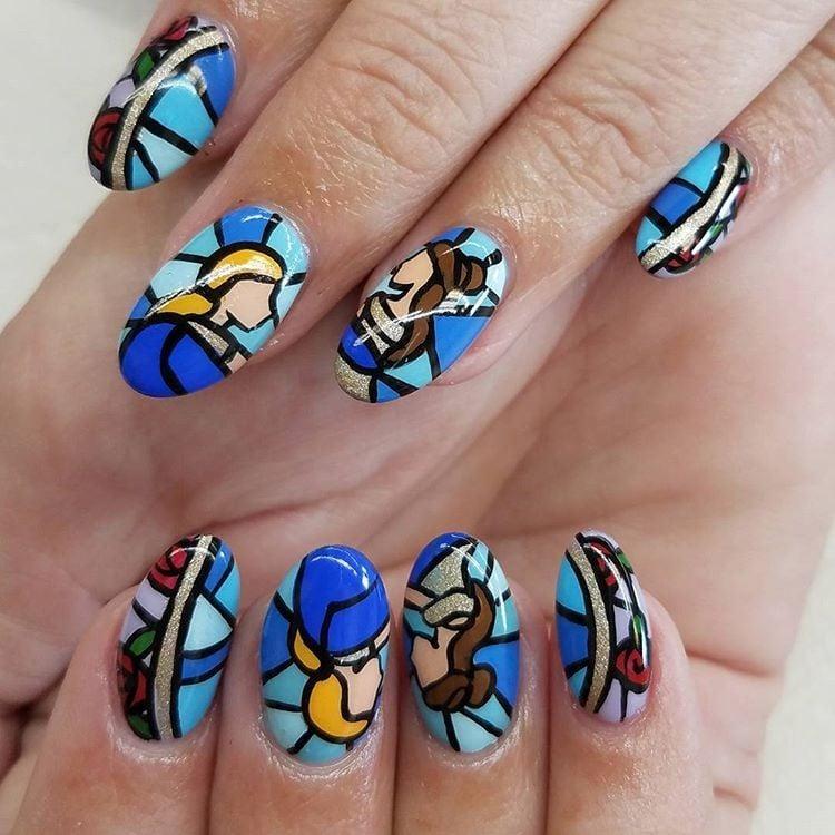Disney Princess Nail Art Ideas Popsugar Beauty