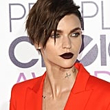 Ruby Rose's Hair and Makeup at People's Choice Awards 2017