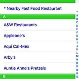Fast Food Finder App