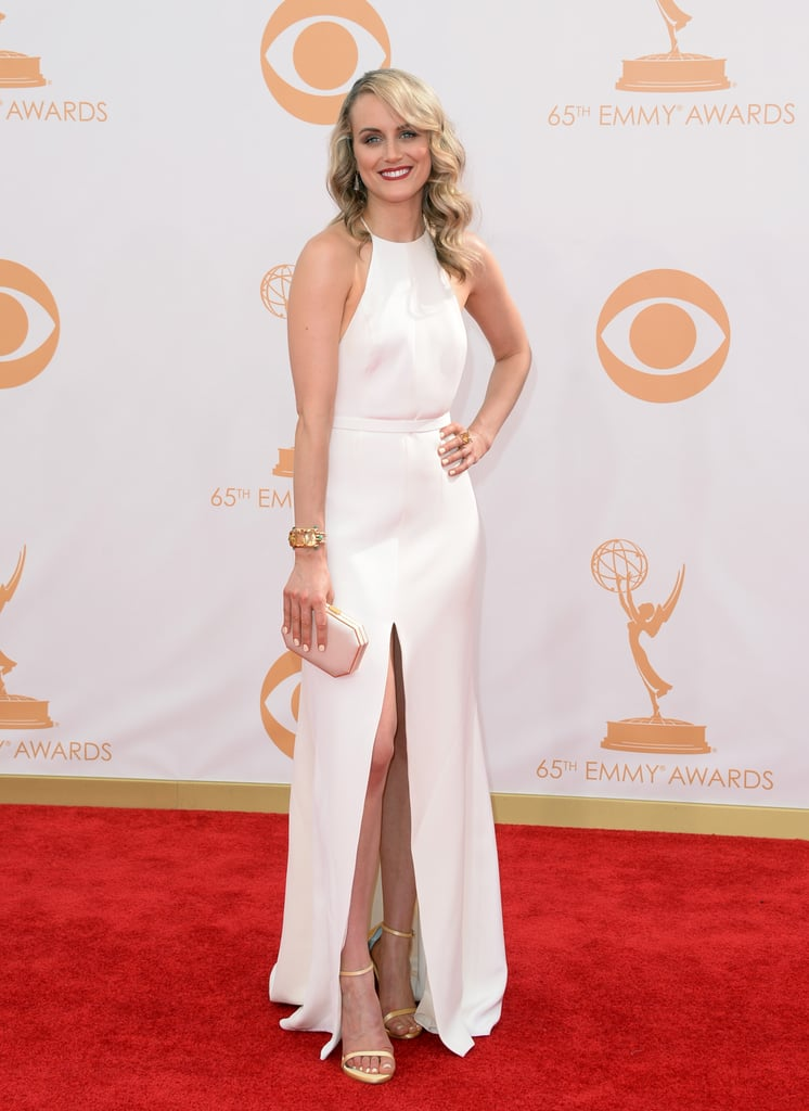 Taylor Schilling in Thakoon and Stuart Weitzman