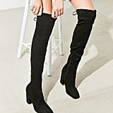 Urban Outfitters Samantha Faux Suede Thigh-High Boots