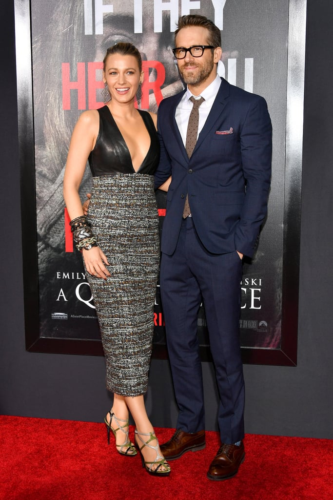Blake Lively and Ryan Reynolds at A Quiet Place Premiere