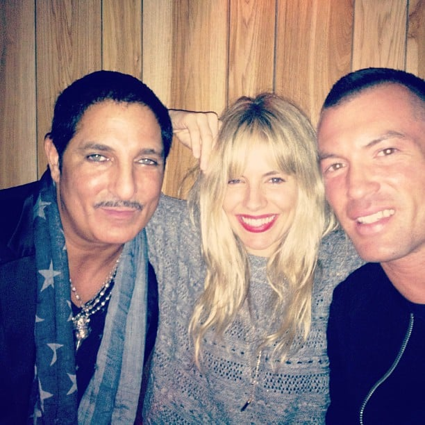 Sienna Miller smiled big while spending time with friends. Source: Instagram user siennard