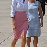Melania's White Hot Pumps