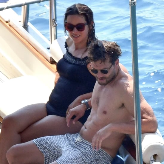 Jamie Dornan and Amelia Warner in Italy August 2018