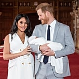 Prince Harry and Meghan Markle Announcing the Birth of Archie in 2019