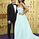Manny Jacinto and Jameela Jamil at the 2019 Emmys