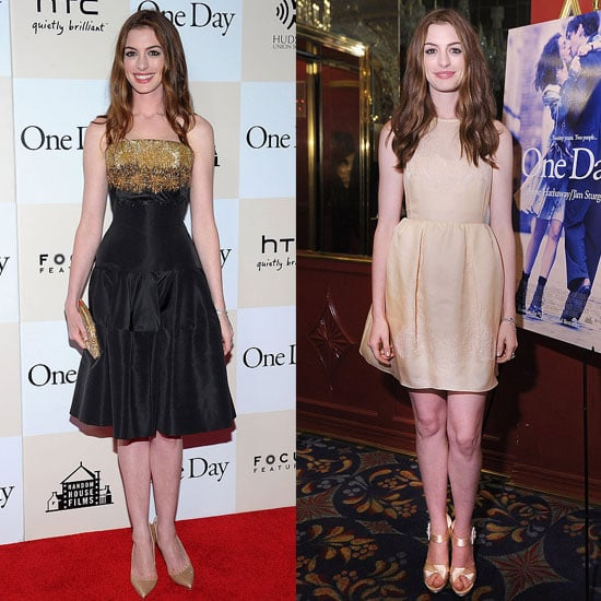 Anne Hathaway One Day: Anne Hathaway One Day Premiere Pictures